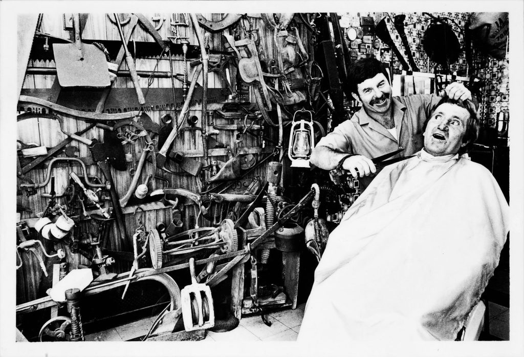 Bundaberg barber and collector Kevin Apps, originally from Manly NSW - First image published interstate in Sydney Manly Daily (1988)