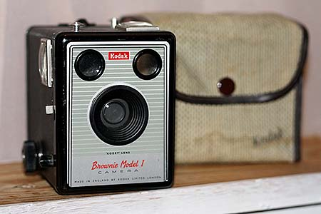First camera used creatively was Kodak Box Brownie at 10 years of age
