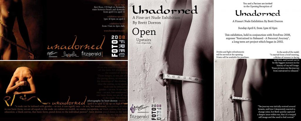Unadorned Exhibition posters and flyers 2008